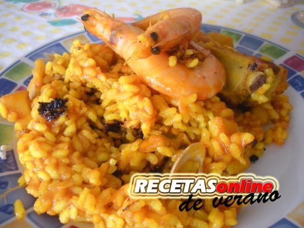 Paella mixta - Recetas de cocina RECETASonline
