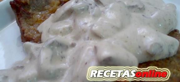 Escalopines de ternera a la crema - Recetas de cocina RECETASonline