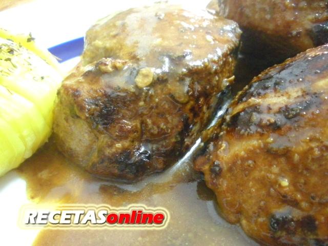 Solomillo de cerdo a la miel y mostaza - Recetas de cocina RECETASonline