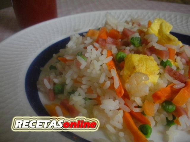 Arroz tres delicias chino - Recetas de cocina RECETASonline