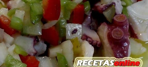Pulpo a la vinagreta - Recetas de cocina RECETASonline