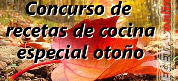 Concurso de recetas de cocina especial otoño - Recetas de cocina RECETASonline