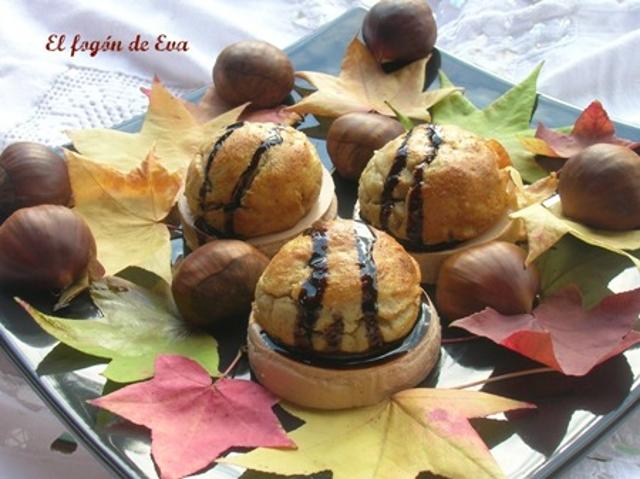 Foie de pato con puré de castañas y caramelo de vino dulce - Recetas de cocina RECETASonline