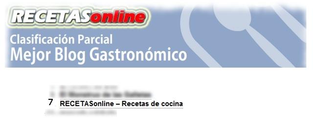 premios bitacoras 2010 - Recetas de cocina RECETASonline