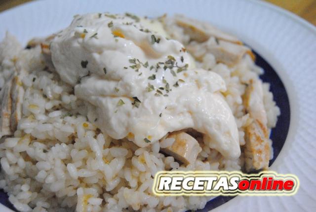 Arroz con mayonesa y pavo - Recetas de cocina RECETASonline