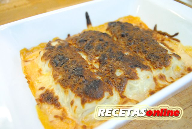Canelones de pollo - Recetas de cocina RECETASonline