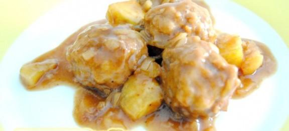 Albóndigas en salsa de cebolla express - Recetas de cocina RECETASonline