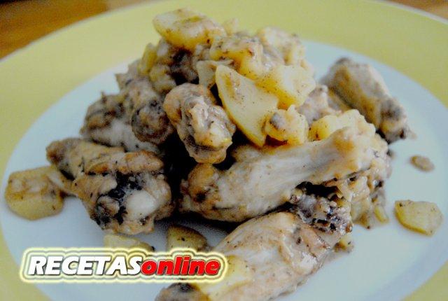 Pollo salteado con ajos y perejil - Recetas de cocina RECETASonline