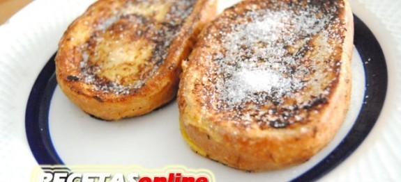 Torrijas a la plancha (ligeras...) - Recetas de cocina RECETASonline