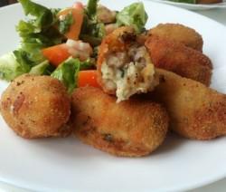 Croquetas de setas y beicon - Recetas de cocina RECETAS online