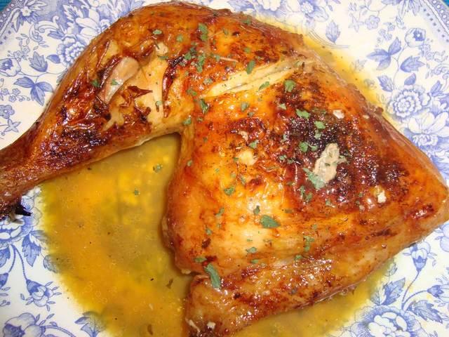 Cuartos de pollo al horno -