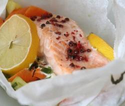 salmón en papillote