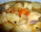 Cazuela de pescado en salsa marinera